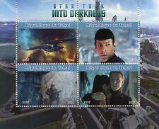 Chad Star Trek Stamps 2021 CTO Into Darkness Spock Kelvin Timeline 4v M/S II