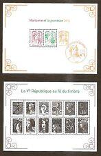 2013 Bloc N° F 4781+Bloc 133 LA 5eme REPUBLIQUE AU FIL DU TIMBRE  NEUF**LUXE