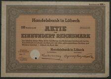 Handelsbank in Lübeck 1941 100 RM