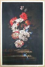 Edizioni Beatrice D'Este n.1277 -  Fiori - Flowers - Stampa su Seta - Print silk