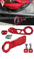 Aluminum Billet Red Front Rear Bumper Tow Hook Towing Kit For VW Porsche Audi