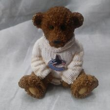 Vancouver Canucks Teddy Bear Powerplay Teddies Figure White Sweater Rare