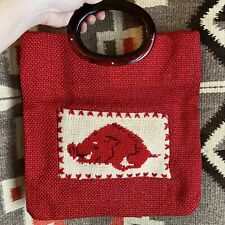 Vintage Razorback Lucite Purse University Of Arkansas U Of A