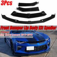 Gloss Black Front Bumper Lip Splitter Spoiler Cover For Chevy Camaro
