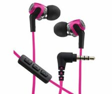 Audio-Technica ATH-CK323i Sonic Fuel Headphones with Mic & Volume Control ~ Pink