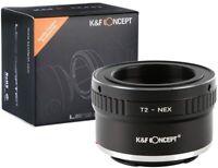 K&F Concept Objektivadapter für T2 Objektiv auf Sony E-Mount Kamera NEX Alpha