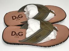 D&G New BOYS LEATHER THONG SANDALS SLIPPERS 32 Eur/ 13.5 US RTL $190 LCDZI4 O125