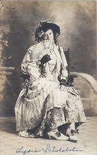 1910s RP POSTCARD MRS LYDIA SCHOLOBOHN DRESSED IN WHIMSY THEATRICAL COSTUME