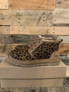 UGG WOMENS NEUMEL NATURAL LEOPARD BOOTS SHOES PICK SIZE FREE SHIP