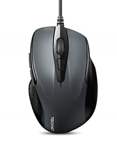 TECKNET 6-Button USB Wired Mouse with Side Buttons, Optical Computer Mouse