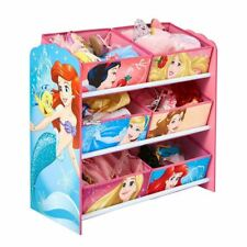 DISNEY PRINCESS 6 BIN STORAGE GAMES TOYS KIDS BEDROOM
