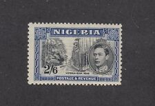 NIGERIA: 1938-51 KGVI definitives 2/6d Black & Blue Perf 13x11½ SG 54 £60, MLH.