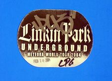 Linkin Park Underground Medeora World Tour Backstage Concert Pass 2004 Salt Lake