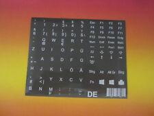 autocollants de Clavier pour Notebook Allemand Gris Basalte 11,5mm x QWERTY