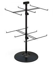 Counter Top Spinner Display Rack - 2 Tier 12 Peg (Black)