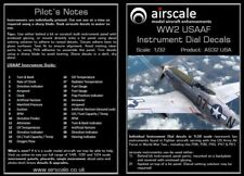 Airscale AS32USA 1/32 WW2 USAAF Instruments Decal Set