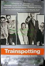 "Trainspotting Orig. 1996 US movie poster EARLY EWAN McGREGOR! NICE BIG 27"" x 40"""