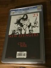 NEW AVENGERS #23 CGC 9.8 MARVEL 10/06 SKETCH COVER CIVIL WAR