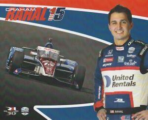 2021 Graham Rahal United Rentals Honda Dallara Indy Car Hero Card