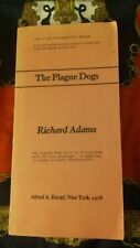 THE PLAGUE DOGS by RICHARD ADAMS  - Uncorrected Proof (Book's Original Ending)