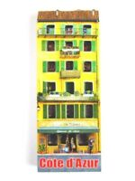 Cote D´ Azur Casa Amarillo 3D Madera Recuerdo Deluxe Imán Francia Francia Nuevo