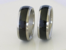 Exotic African Black Wood Wedding Bands Pure Tungsten & Titanium Ring Sizes 4-17