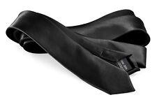 Men's Skinny Neckties - Polyester Solid Color Slim Neck Tie by Moda Di Raza
