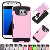 Hybrid Rugged Shockproof Full Hard Case Cover For Samsung Galaxy S5 S6 S7 Edge