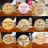 Cards Paper Wedding Decor Thank You Sealing Tag Package Label Kraft Stickers