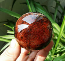 "356.6g 64mm Rainbow!! Natural ""Red Ghost "" Quartz Crystal Sphere Ball Healing D1"