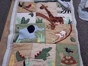 Zanaibar zoo jungle #s BABY CRIB BEDDING NURSERY SET Boy Animals brown green