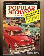 Popular Mechanics February 1953 Giant Auto Supplement Motorcycles Pan Am Race