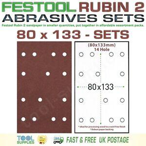 Festool RUBIN 2  80 x 133 Sandpaper Assortment Packs, RTS 400 LS 130 HSK SET