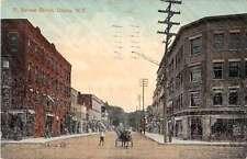 Ithaca New York hose buggy street scene N Aurora St antique pc Z23160