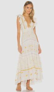 LOVESHACKFANCY Cortland Embroidered Maxi Dress UK 10 US 6 RRP £425 LN015 DD 11