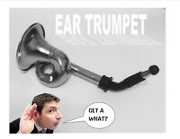 Ear Trumpet Horn For The Hard Of Hearing Crowd.Great party gag gift!