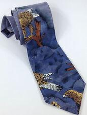 "Bald Eagle Lost Kingdom Men's Necktie 100% Polyester Tie 58"" x 4"" Endangered"