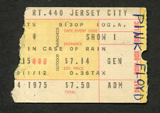 1975 Pink Floyd Concert Ticket Stub Wish You Were Here Roosevelt Stadium NJ