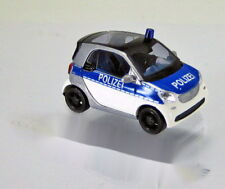 Busch 50710 Smart Fortwo Coupe Modell 2014 Polizei Scale 1 87 NEU OVP