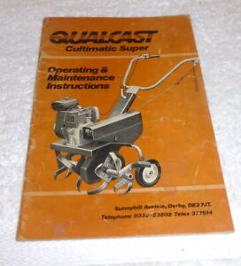 Vintage 1960 Qualcast Cultimatic Super operating Instructions