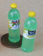 1:12 Scale 2 Bottles Of Lemonade Tumdee Dolls House Miniature Drink Accessory
