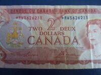 1974 Canada 2 Dollar Replacement Bank Note-*RW5626211-21-5