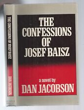 THE CONFESSIONS OF JOSEF BAISZ - DAN JACOBSON FIRST EDITION SIGNED