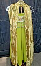 Sexy Belly Dancer Gypsy Harem Girl Adult Costume Halloween Women's Green Bedlah