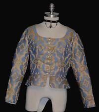 """BLUE BEIGE GOLD German Women PEPLUM Dress Pants Dirndl Blouse Top/B 38""""/10 M"""