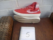 NIKE TRAINERS SIZE UK 5 RED CANVAS HIGH TOPS