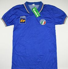 1986-1990 ITALY DIADORA HOME FOOTBALL SHIRT (SIZE L) - BNWT