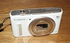 Broken Canon PowerShot SX610 HS 20.2MP Digital Camera White For Parts or Repair