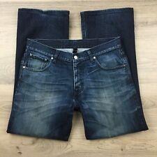 Nobody Men's Jeans Boot Cut 100% Cotton Size 34 L29.5 hemmed (BK3)