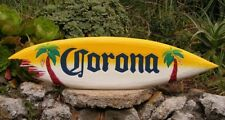 "Corona Wood Surfboard Beer Tiki Bar Sign w/ shark bite Pub Man Cave 39"""
